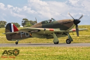 Mottys Flight of the Hurricane Scone 1 0835 Hurricane VH-JFW-001-ASO