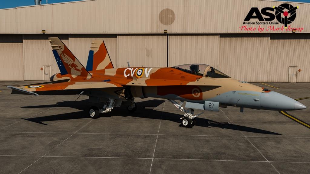 RAAF F/A-18A Hornet A21-27 3SQN 100th Anniversary scheme 2016.