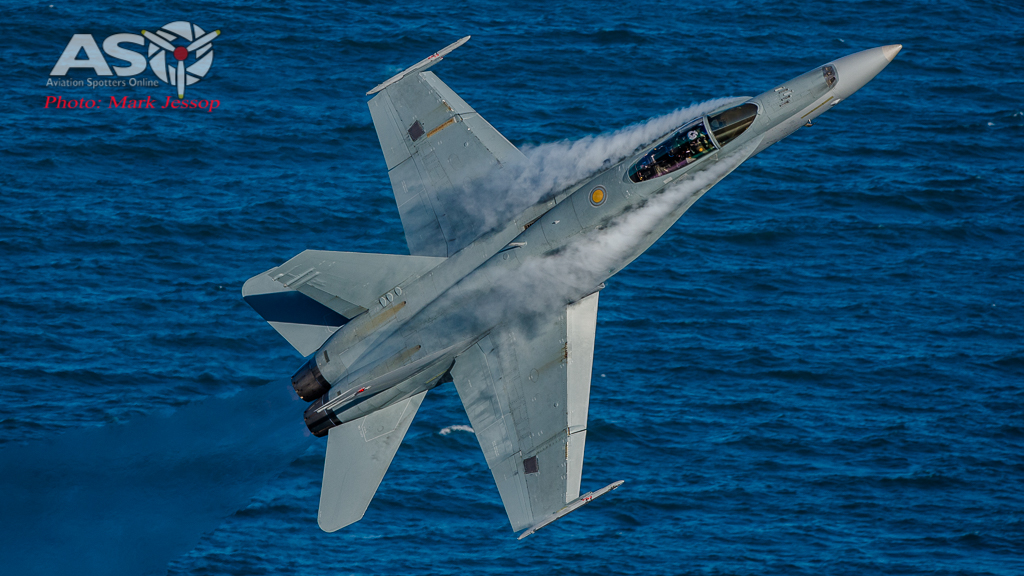 RAAF F/A-18 Hornet saying hello.