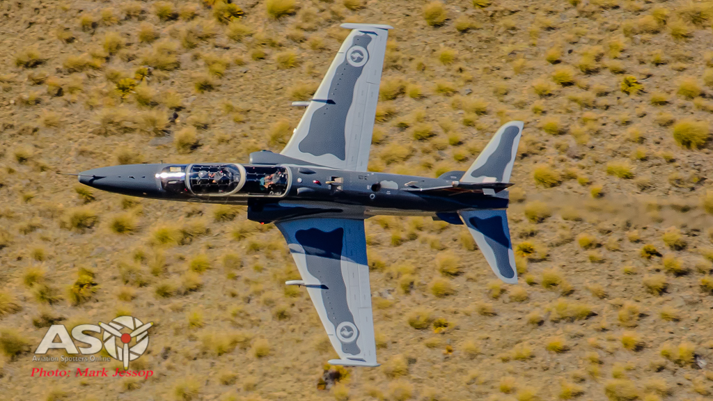 "RAAF Hawk in the NZ ""Mach Loop"" at Crown Pass near Queenstown."