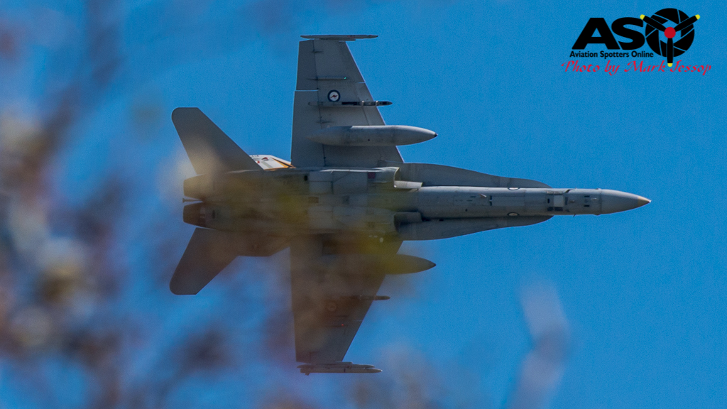 F/A-18A low level Western Airspace