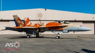 3SQN F/A-18A Hornet A21-27 100th Anniversary.