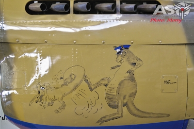 """Ross Pays P-40E signed by the late 3SQN CO Robert """"Bobby"""" Gibbes"""