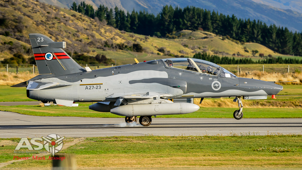 RAAF Hawk A21-23 79SQN landing at Queenstown NZ.