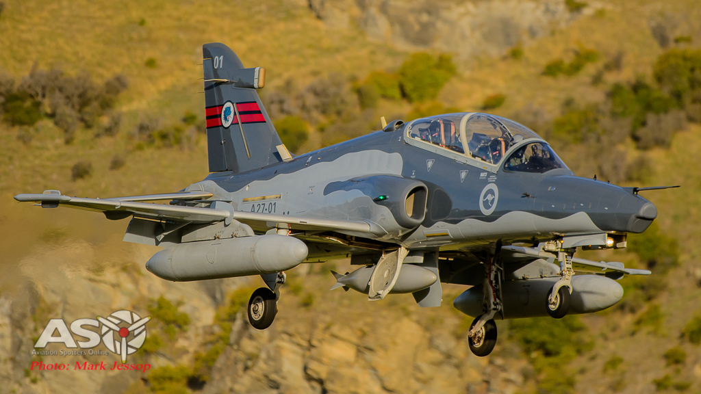 RAAF Hawk A21-01 79SQN landing at Queenstown NZ.