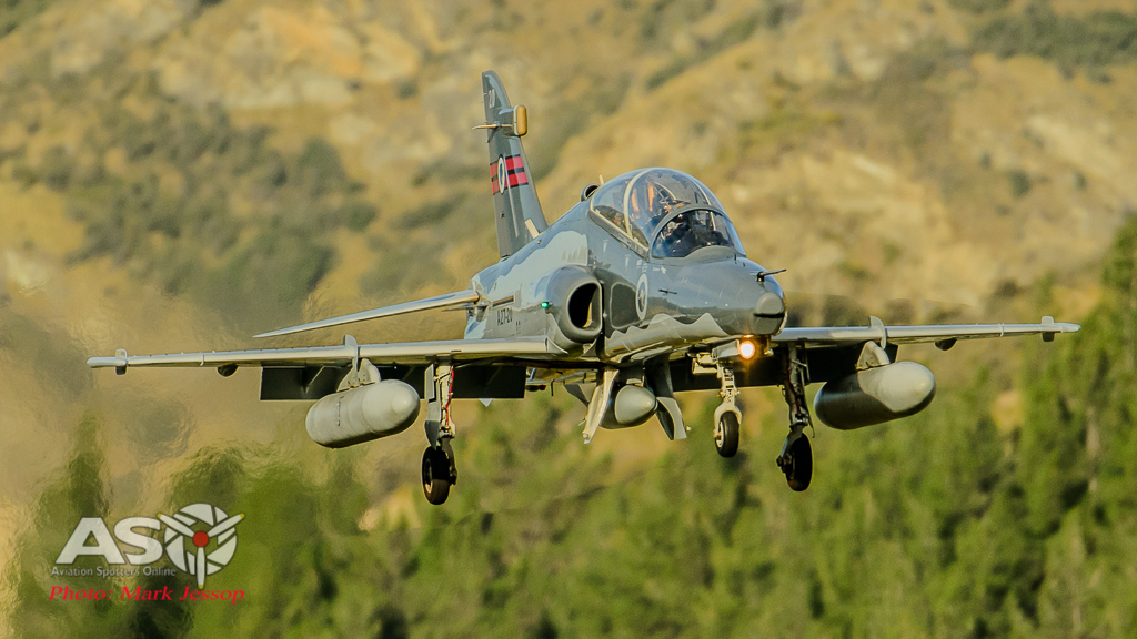 RAAF Hawk A21-20 79SQN landing at Queenstown NZ.