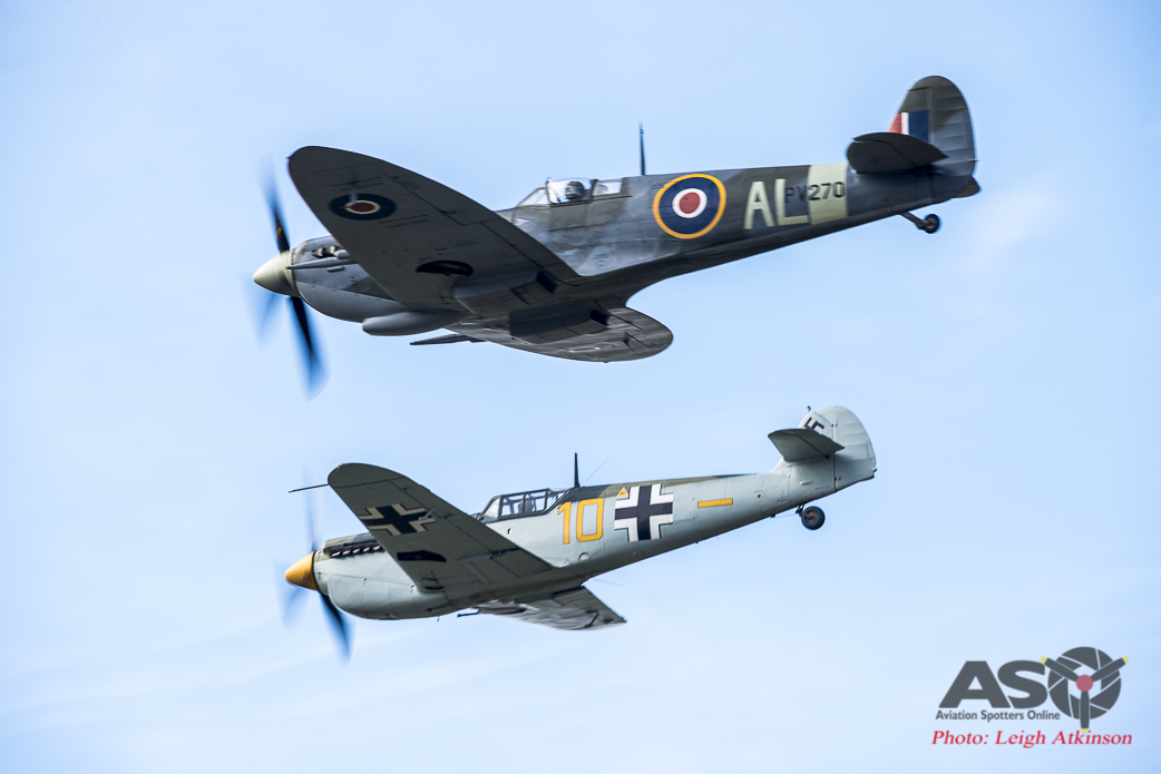 Bouchon and Spitfire draw alongside each other