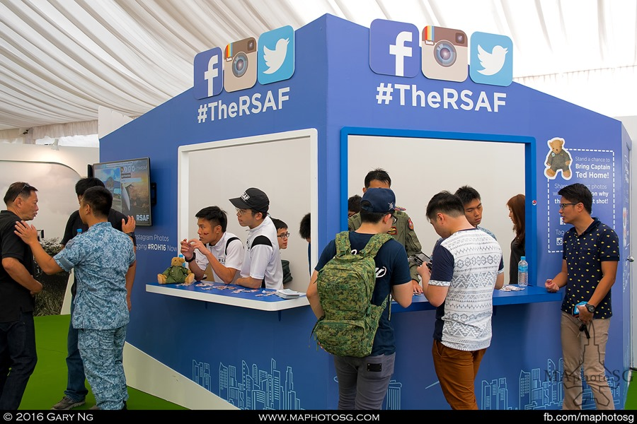 RSAF Social Media booth
