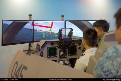 RSAF and Singapore Polytechnic joint collaboration flight simulator