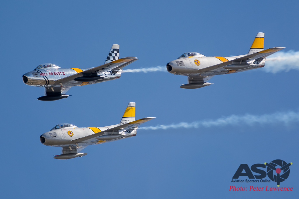 What's better than 1 Sabre? 3 Sabres.....flying formation aerobatics!