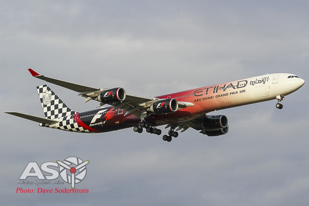 Etihad A340-600 F1 ASO