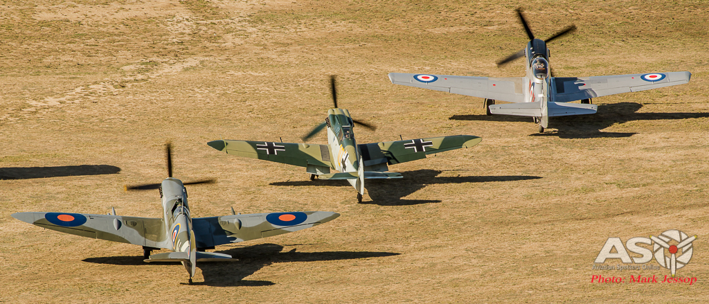The 3 Classic Aircraft waiting for the start