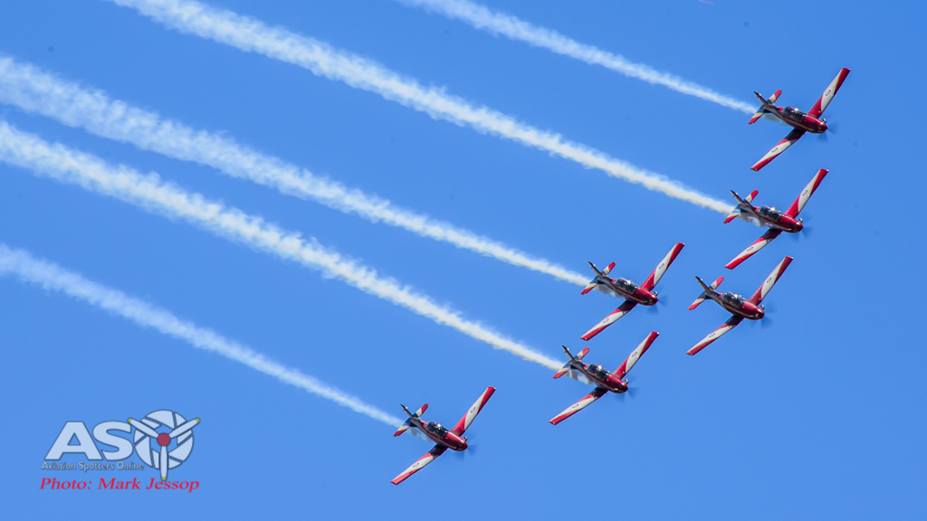 The RAAF Roulettes showing their usual precision