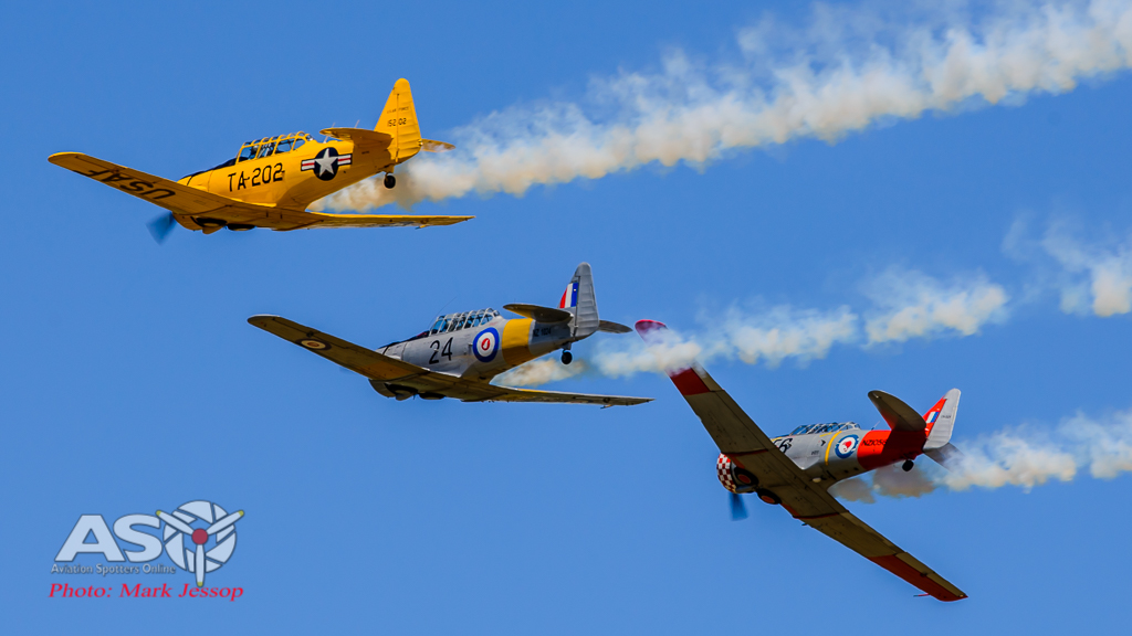 T-6 Harvards in action