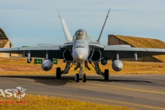 F/A-18A Hornet A21-9 77SQN Head on.