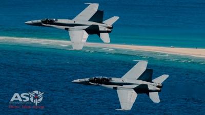 RAAF F/A-18 Hornets Australia Day