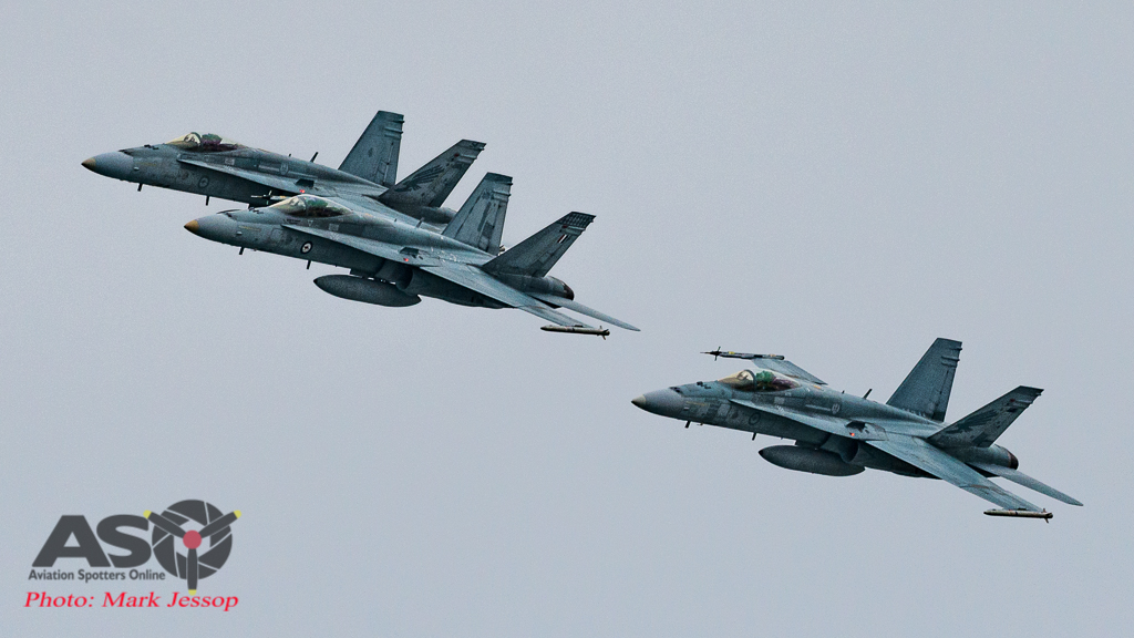 RAAF F/A-18A Hornets Australia Day 2017.