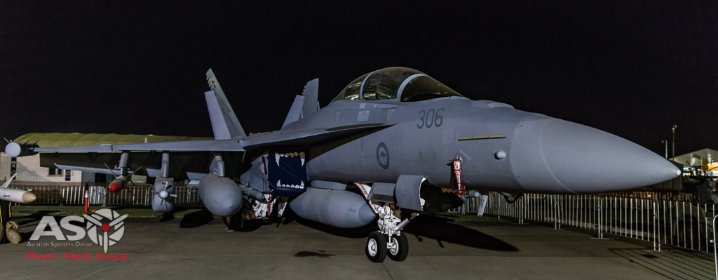 RAAF E/A-18G Growler. Nikon D800, ISO 5000 1/50th at f.4