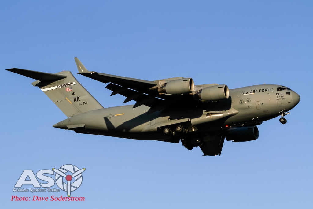 USAF C-17 Elmdorf at Avalon airshow