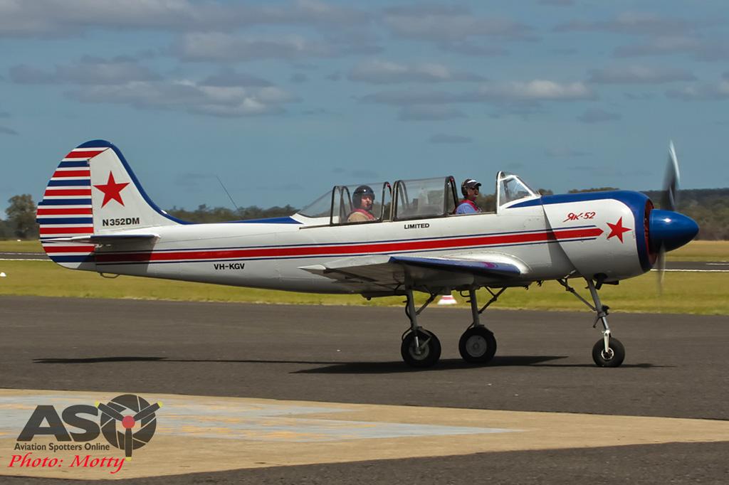 Mottys AWAL Kingaroy 2015 Yak-52 VH-KGV 0020
