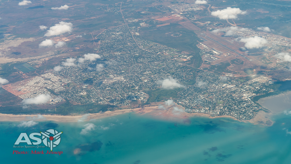 Looking back over the township of Darwin.