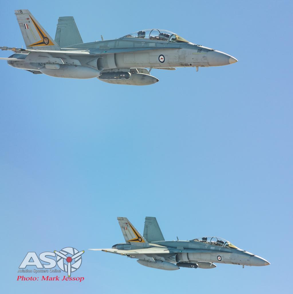 A21-118 & A21-113 F/A-18B Hornets 2OCU.
