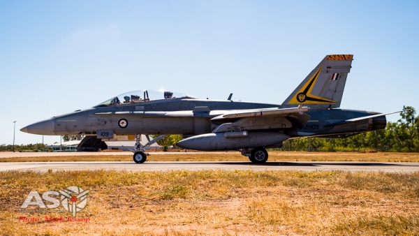 A21-109 taxing out at RAAF Tindal.