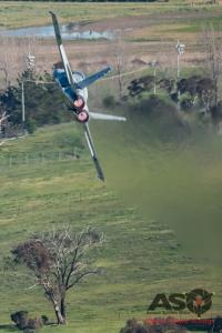 F/A-18A Hornet A21-37 3SQN RAAF Bathurst 1000 Saturday 2016.