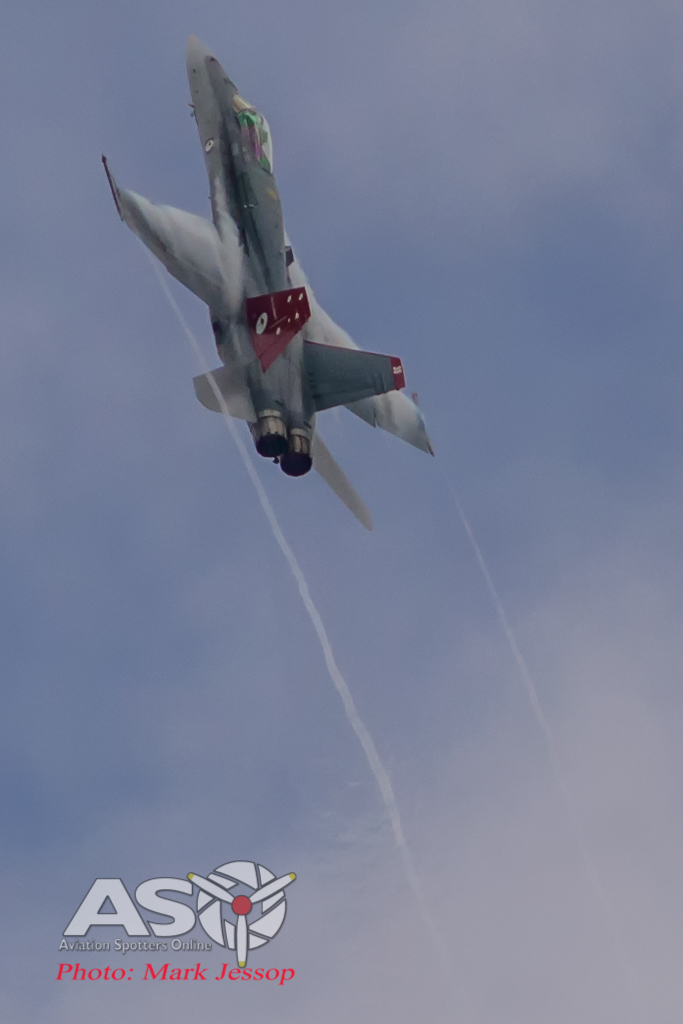 F/A-18A Hornet A21-35 on the exit climb out.