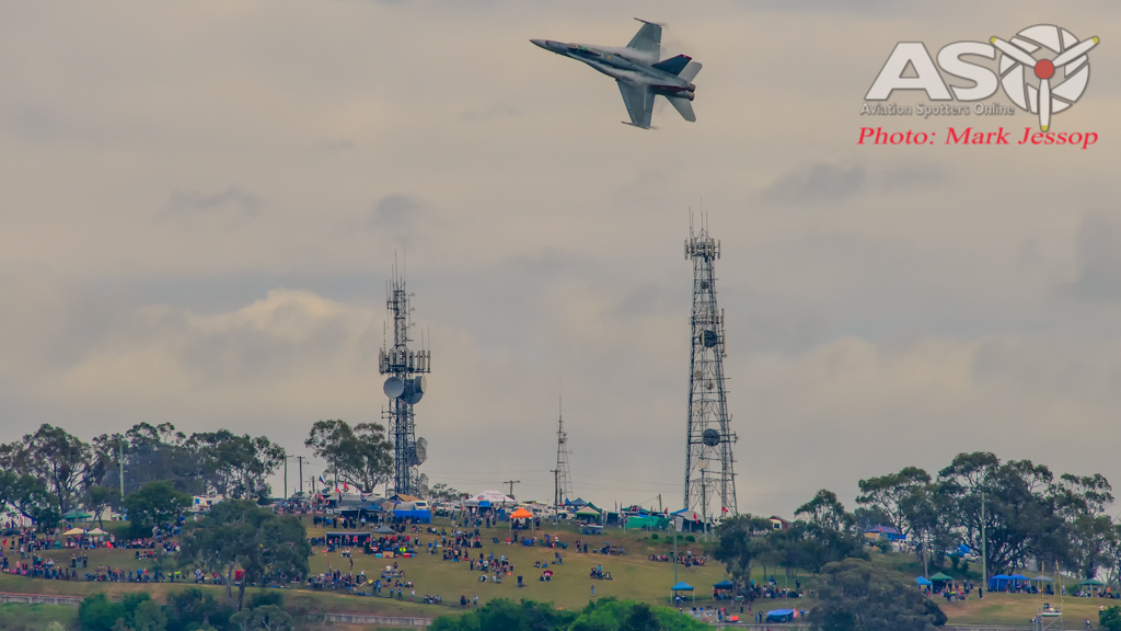 F/A-18A Hornet A21-35 cutting over the famous Mountain