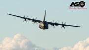 C-130J-30 Hercules on the run in.