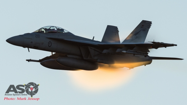 "F/A-18F Super Hornet popping some ""Ecto\"""