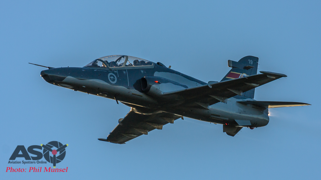 RAAF Hawk returning for it's fast pass over the crowd and base.