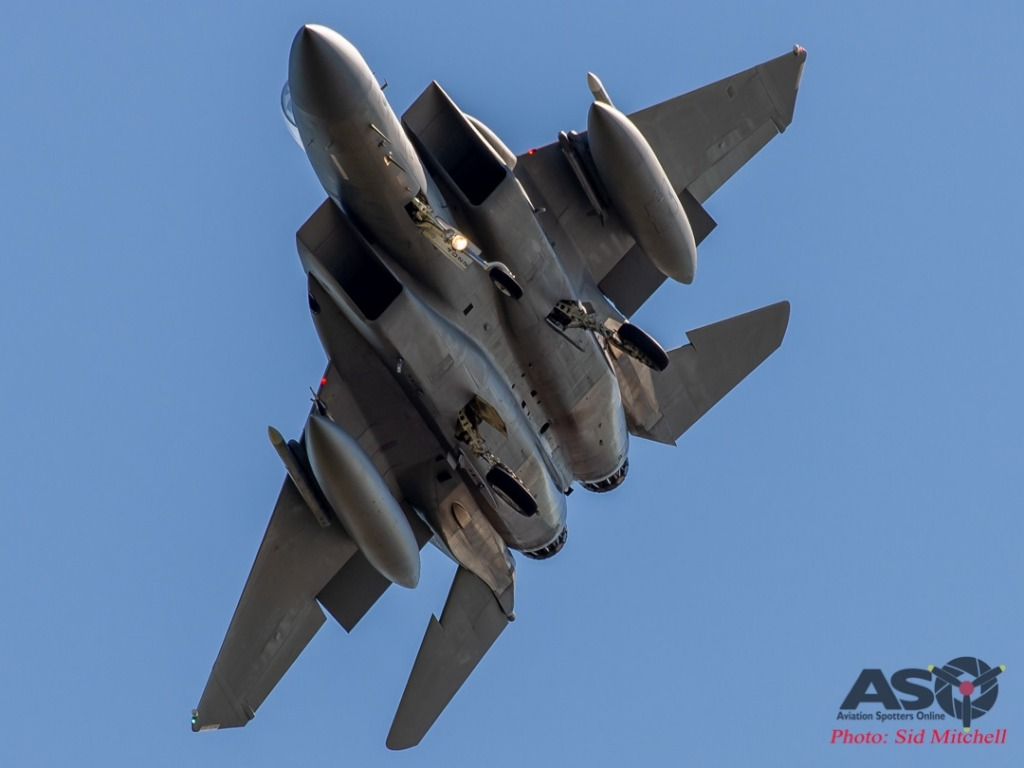 USAF F-15C back from the airspace