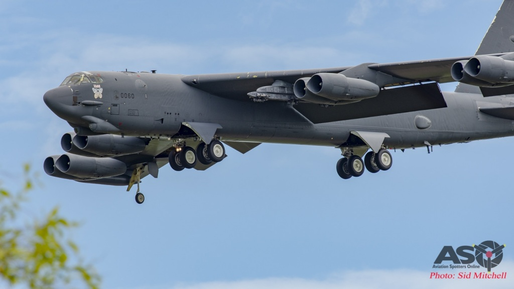 "USAF B-52H 60-0060 'Iron Butterfly' from the ""Barons"" - the 23d Bomb Squadron, 5th Bomb Wing, Minot AFB, Nth Dakota in from Guam."