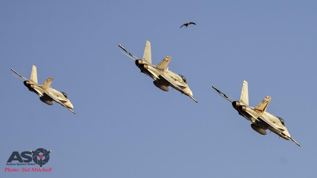RAAF Hornet formation
