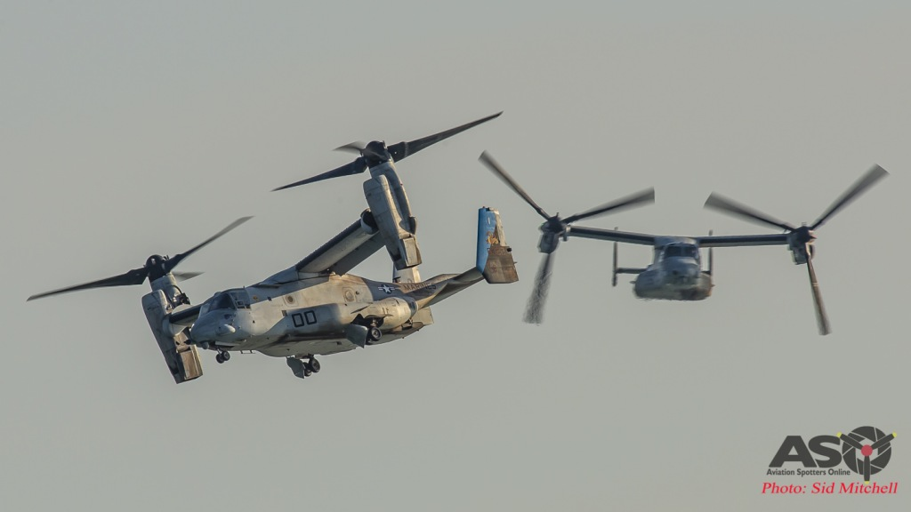 Two USMC MV-22B Osprey