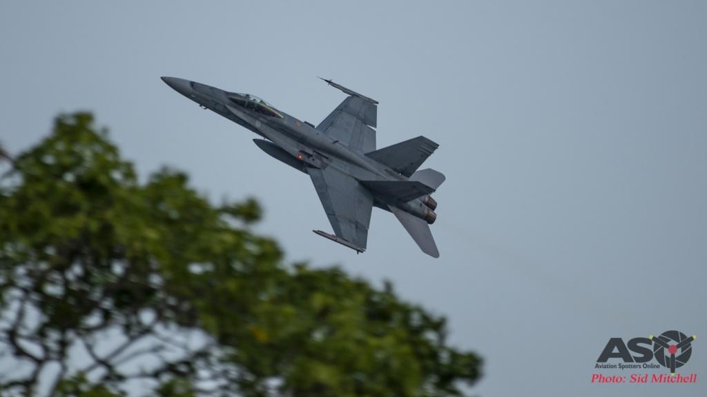 RAAF Hornet display