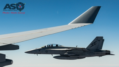 RAAF F/A-18F Super Hornet departs with after burner kicked in.