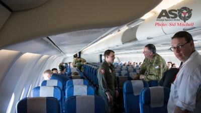 Basic 'civilian' style passenger cabin