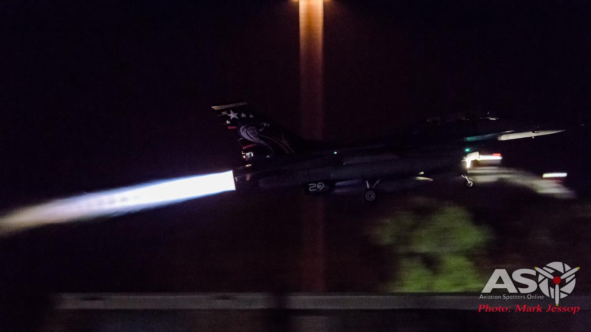RTAF F-16 Camera: Nikon D5 ISO: 12,800 Shutter: 1/125, F5.6f 800mm