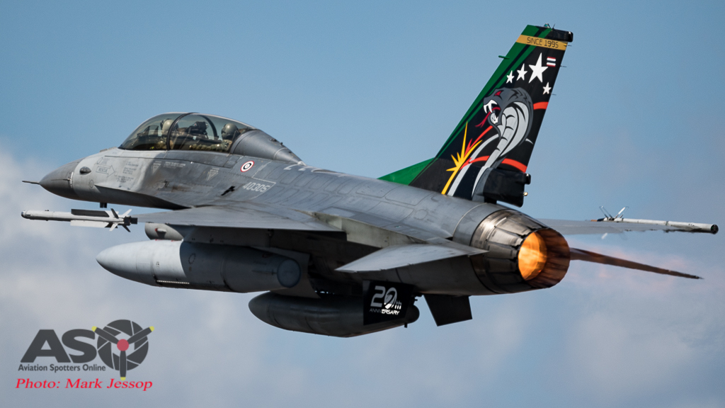 RTAF F-16B (MLU) 403 Squadron.