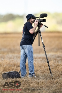 Mark Pourzenic capturing the action airside.
