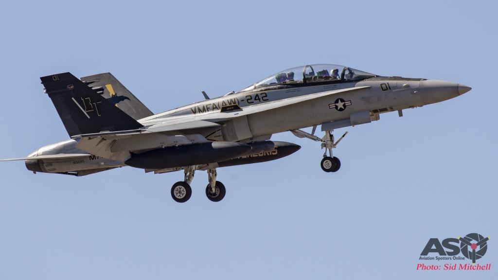 VMFA(AW)242 'Bats' landing at Tindal