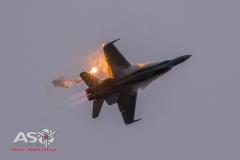 A21-35 F/A-18A Barrel roll with Flare