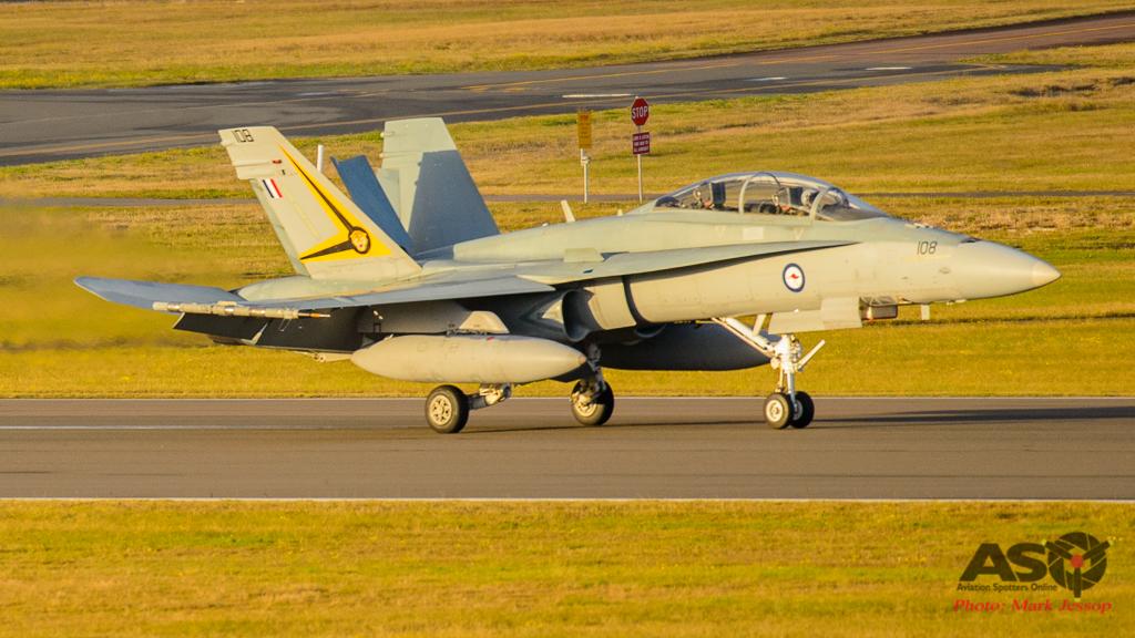 F/A-18B A21-108 2OCU Landing