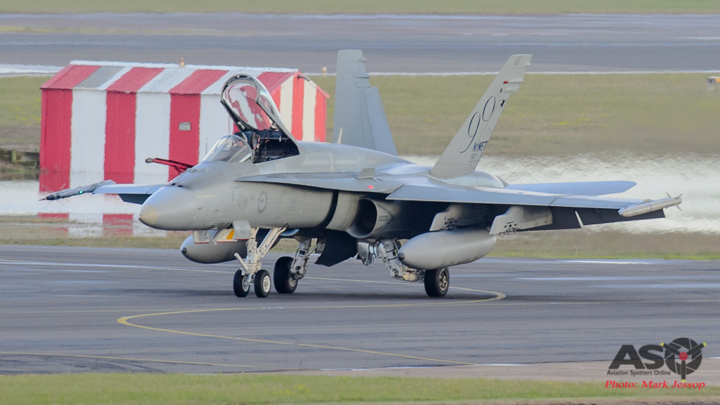 F/A-18A Hornet A21-48 90th Anniversary tail