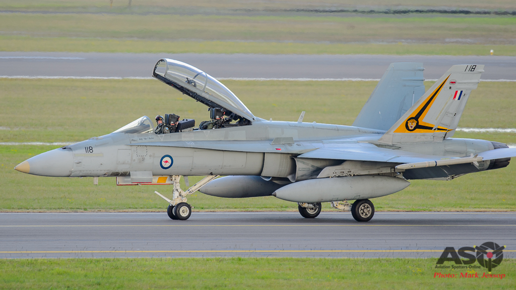 F/A-18B Hornet A21-118 2OCU taxing back