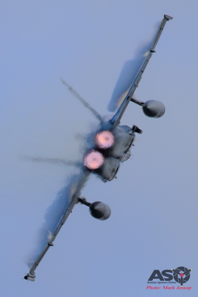 F/A-18 High Speed turn with After Burners