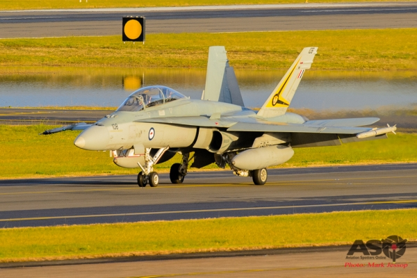 F/A-18B A21-108 2OCU taxing back